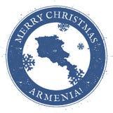 Armenia mapa Roczników Wesoło boże narodzenia Armenia royalty ilustracja