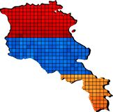 Armenia mapa z flaga inside royalty ilustracja
