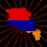 Armenia mapy flaga na czerwonej hex kodu wybuchu ilustraci Obraz Royalty Free