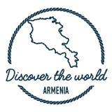 Armenia mapy kontur Rocznik Odkrywa świat Obraz Royalty Free