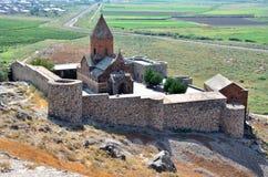 Armenia monaster Khor Virap Fotografia Royalty Free