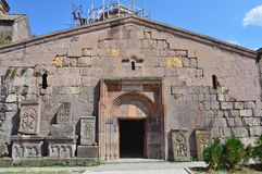 Armenia, monastery Goshavank in the mountains Stock Photos