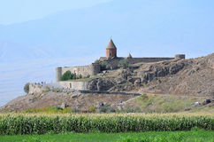 Armenia, the monastery of Khor Virap Stock Images