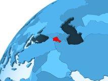 Armenia na błękitnej kuli ziemskiej royalty ilustracja