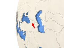 Armenia na 3D kuli ziemskiej Fotografia Royalty Free