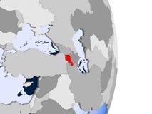 Armenia na kuli ziemskiej royalty ilustracja
