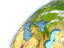 Armenia na modelu planety ziemia Zdjęcie Stock
