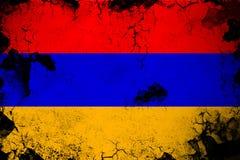 Armenia ośniedziały i grunge chorągwiana ilustracja ilustracja wektor