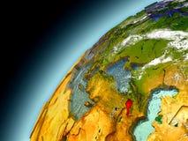 Armenia od orbity model ziemia Zdjęcia Royalty Free