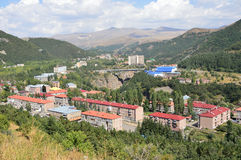 Armenia, panorama of Jermuk city Stock Image