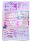 Armenia Passport Stamps. Armenian Travel Document Closeup, Isolated. royalty free stock image