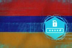 Armenia password protection. Internet safety concept. stock illustration