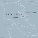 Armenia political map Stock Photography