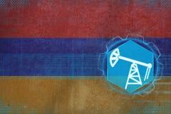 Armenia przemysł paliwowy Nafciany Ekstrakcyjny pojęcie Zdjęcia Stock