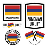 Armenia quality label set for goods Stock Photography