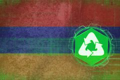 Armenia recycling. Ecology concept. Stock Photo