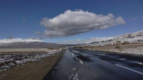 armenia Roadscape de la provincia de Aragatsotn imagen de archivo