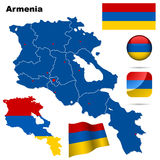 Armenia set. Royalty Free Stock Images