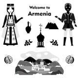 The armenia set black Royalty Free Stock Photography