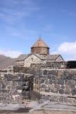 Armenia. Sevan Lake. Surb Arakelots church in winter Royalty Free Stock Images