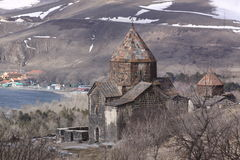Armenia. Sevanavank. The churches of Surp Arakelots. The churches of Surp Arakelots. Lake Sevan in Armenia Royalty Free Stock Image