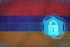 Armenia sieć ochraniająca Elektroniczny obrończy pojęcie Obrazy Stock