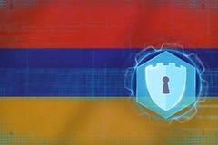 Armenia sieci ochrona Elektroniczny ochrony pojęcie Fotografia Stock