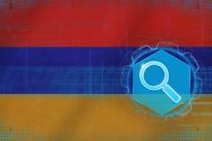 Armenia sieci rewizja Cyfrowej rewizi pojęcie Obraz Stock