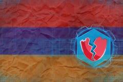 Armenia siekał, atakuje hackerami Cyfrowej ochrony pojęcie Obrazy Royalty Free