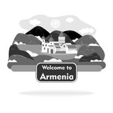 The armenia sign black Royalty Free Stock Images