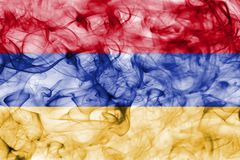Armenia smoke flag Royalty Free Stock Photos