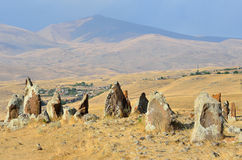 Armenia, Stonehenge, brązowy wiek Fotografia Royalty Free