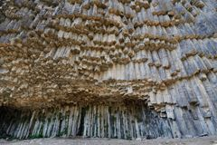 Armenia, Symphony of the Stones. Armenia - Symphony of the Stones, geological rock formation basalt columns in the gorge near Garni stock photography