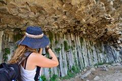 Armenia, Symphony of the Stones. Armenia - Symphony of the Stones, geological rock formation basalt columns in the gorge near Garni royalty free stock photos