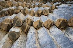 Armenia, Symphony of the Stones. Armenia - Symphony of the Stones, geological rock formation basalt columns in the gorge near Garni stock photos