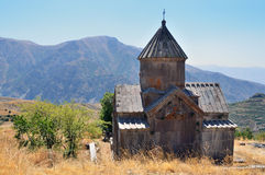 Armenia, Tsahats-kar monaster kościół 10 wiek Zdjęcie Stock