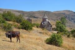 Armenia, Tsahats-kar monaster kościół 10 wiek Obrazy Stock