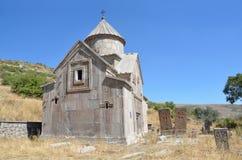 Armenia, Tsahats-kar monaster w górach kościół 10 wiek Obraz Stock