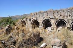 Armenia, Tsahats-kar monastery, ruins of 5-7 century Royalty Free Stock Photos