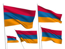 Armenia vector flags Stock Photos