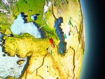 Armenia w czerwieni od przestrzeni Zdjęcie Stock