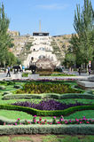 Armenia widoki Yerevan, kaskada Obraz Stock