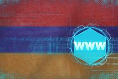 Armenia Www (internet) pojęcie rozmyta ostrość inni czerwoni sieci słowa Obraz Stock