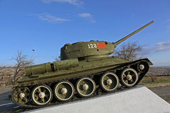 Armenia. Yerevan. The exhibits of the museum of the Ministry Defence. T-34 Royalty Free Stock Photos