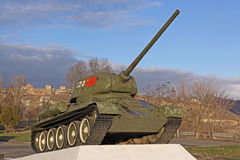 Armenia. Yerevan. The exhibits of the museum of the Ministry Defence. T-34 Royalty Free Stock Photo