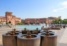 armenia Yerevan 17 2016 Sierpień: fontanna dla wody pitnej Zdjęcie Royalty Free