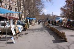 Armenia. Yerevan. Sreet market Vernissage Royalty Free Stock Photo