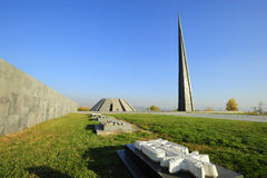 Armenia, Yerevan, zabytek ludobójstwo Zdjęcia Royalty Free