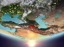 Armenia z słońcem royalty ilustracja