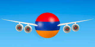 Armenian airlines and flyings, flights to Armenia concept. Stock Images